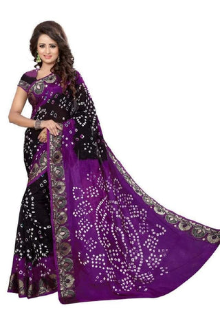 Multi Color Art Silk Saree - JNNAVRANG-8