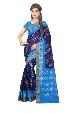 Multi Color Art Silk Saree - JNNAVRANG-9