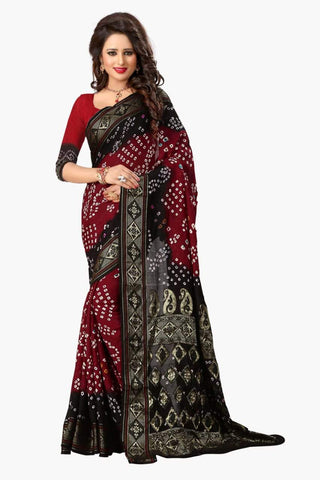 Multi Color Art Silk Saree - JNavrang-1