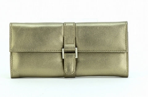 Green Color Leather Women Jewelry Roll Bag - JR275PWTR