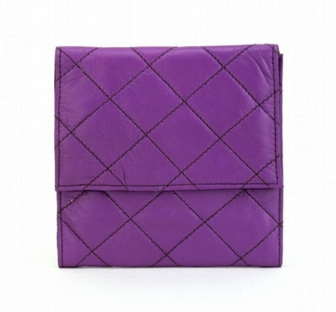 Purple Color Leather Women Jewelry Roll Bag - JR300PRPL
