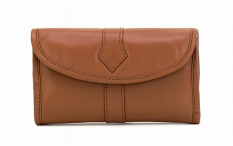 Tan Color Leather Women Jewelry Roll Bag - JR345TAN