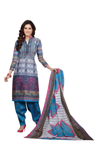 Multi Color Cotton  Stitched Salwar  - Joy-2013