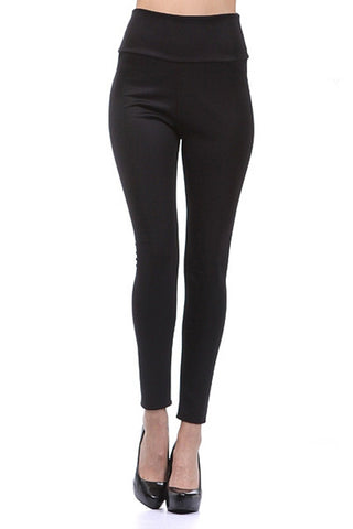 VENUSGRAB-Black Color Imported Roma Jegging - Js36-Black1