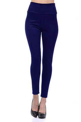 VENUSGRAB-Navy Blue Color Imported Roma Jegging - Js36-Navy