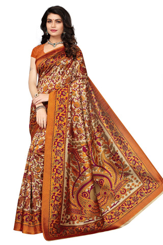 Multi Color Mysure Silk  Saree - K-17