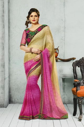 Multi Color Georgette Saree - K-2203