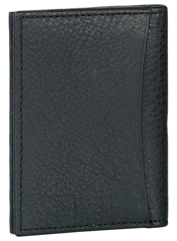 Black Color Leather Credit Card Holder - K110RFIDBLK