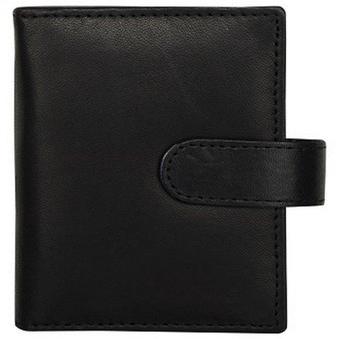 Black Color Leather Credit Card Holder - K602FBLACK