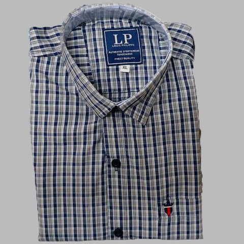Multi Color Premium Cotton Men's Checkered Shirt - KG-111119-LP-CH-10
