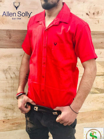 Red Color Premium Cotton Half Sleeve Shirt -KG-120220-AS-PL-4