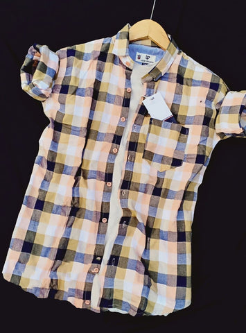 Multi Color Premium Cotton Men's Checkered Shirt - KG-171019-LP-CH-5
