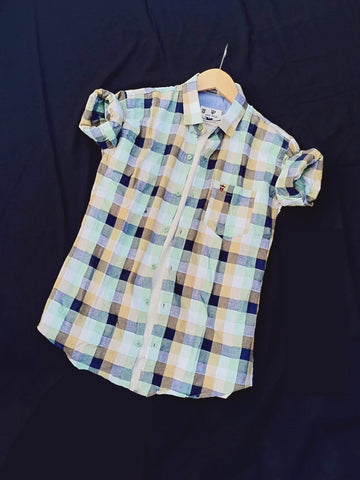 Multi Color Premium Cotton Men's Checkered Shirt - KG-171019-LP-CH-6