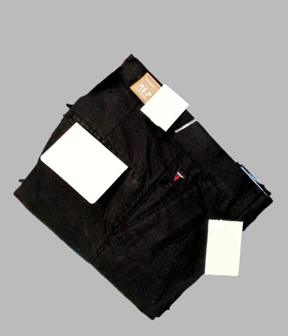 Black Color Premium Cotton Men's Plain Trouser - KG-301019-LP-TSR-1