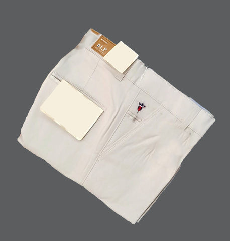 Beige Color Premium Cotton Men's Plain Trouser - KG-301019-LP-TSR-2
