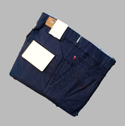 Navy Color Premium Cotton Men's Plain Trouser - KG-301019-LP-TSR-3