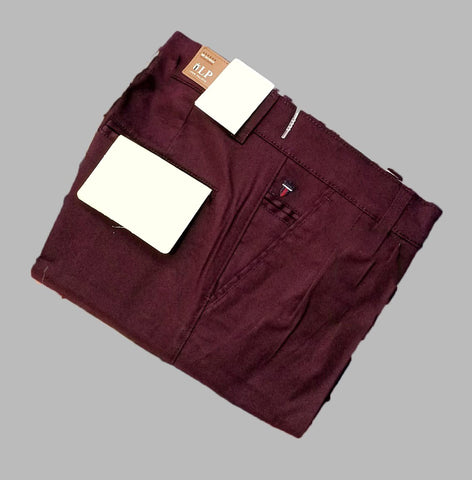 Wine Color Premium Cotton Men's Plain Trouser - KG-301019-LP-TSR-5