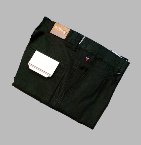 Green Color Premium Cotton Men's Plain Trouser - KG-301019-LP-TSR-6