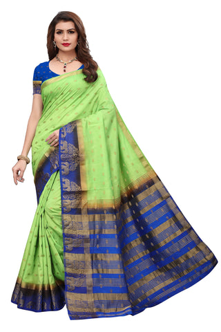 Navy Blue color  Tussar Silk  Saree KL-1047