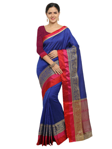 Blue Color Banarasi Silk Saree - KNDS29001