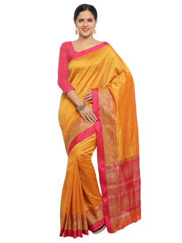 Yellow Color Banarasi Silk Saree - KNDS29002