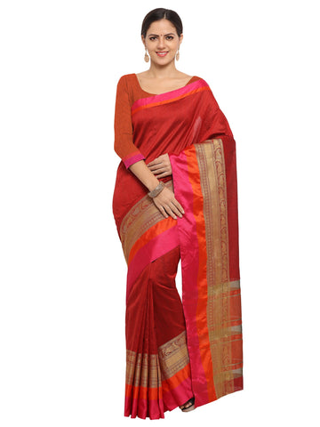 Red Color Banarasi Silk Saree - KNDS29003