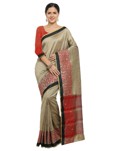 Grey Color Banarasi Silk Saree - KNDS29007