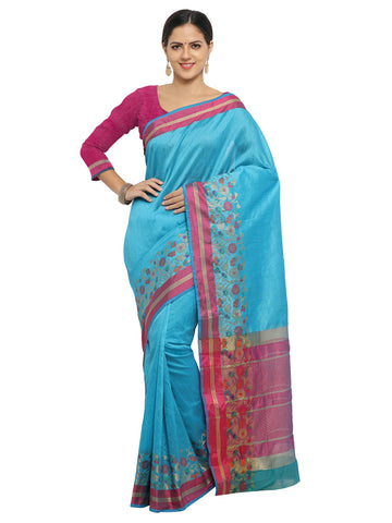SkyBlue Color Banarasi Silk Saree - KNDS29009