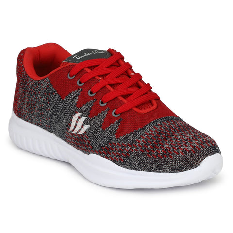 Red Color Fly Knit Men Shoe - KNIT4-RED