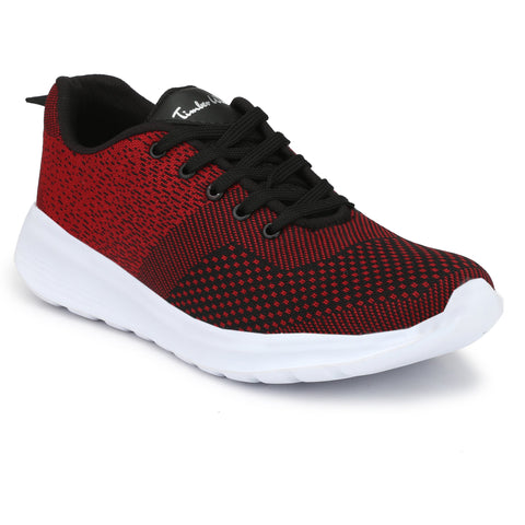 Red Color FlyKnit Men Gym Shoe - KNITRED