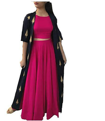 Pink Color Rayon Women's Stitched Kurti - KNK_PINK_SK_KOTI