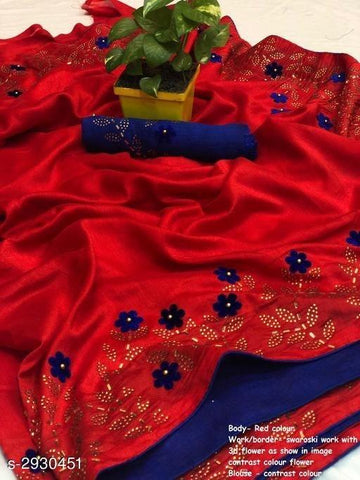 Red Color Sana Silk Women's Saree - KRISHNA-kl-13
