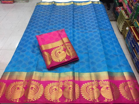 Blue Color Tussar Silk Women's Saree - KRISHNA-kl-23