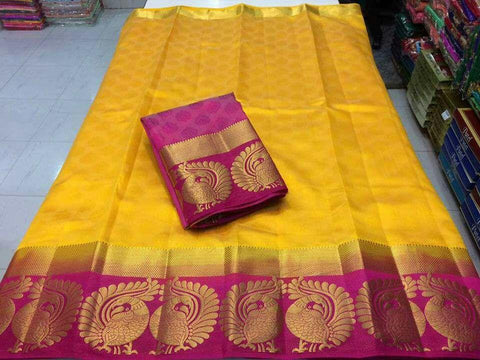 Yellow Color Tussar Silk Women's Saree - KRISHNA-kl-30