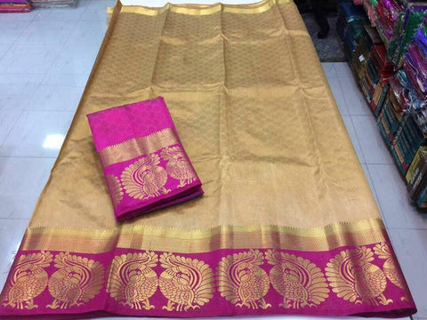 Green Color Tussar Silk Women's Saree - KRISHNA-kl-31