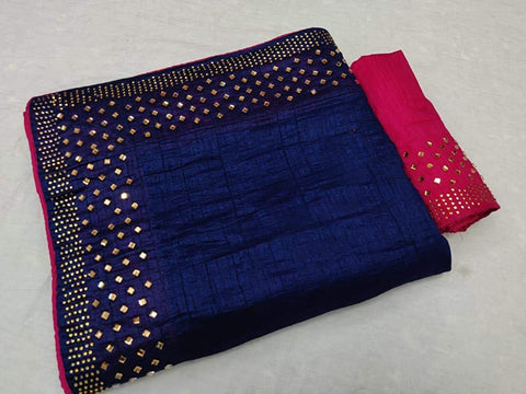 Royal Blue Color Sana Silk Women's Saree - KRISHNA-kl-6