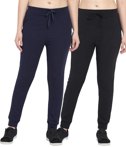 Pack Of 2 Women Polyster Slim Fit Track Pant - KSRO-DF-WL-70-71