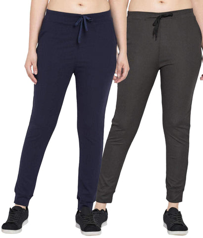 Pack Of 2 Women Polyster Slim Fit Track Pant - KSRO-DF-WL-70-73