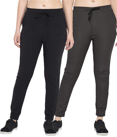 Pack Of 2 Women Polyster Slim Fit Track Pant - KSRO-DF-WL-71-73