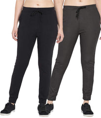 Buy Pack Of 2 Women Polyster Slim Fit Track Pant