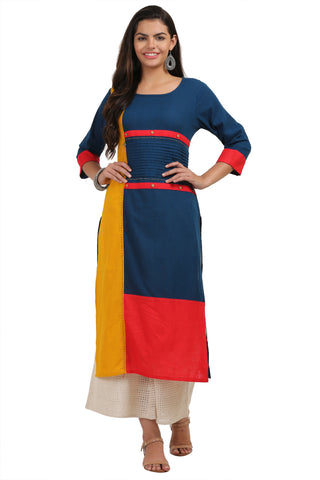 Multi Color Flex Women's Stitched Kurti - KUR190084