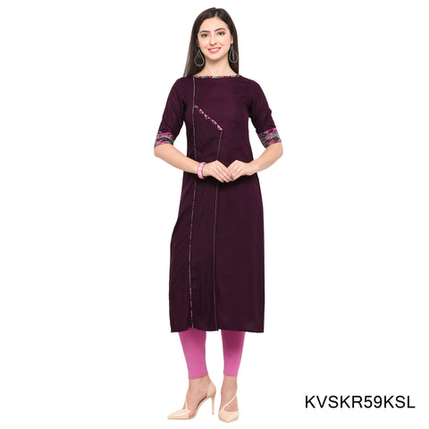 Light Purple Color Rayon Stitched Kurti - KVSKR59KSL