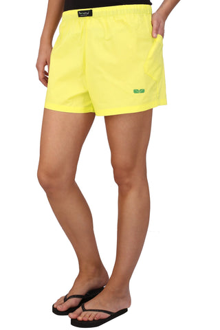 Yellow Color Cotton Women's Boxer - KWB4004