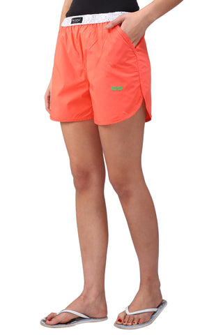 Peach Color Cotton Women's Boxer - KWB4005