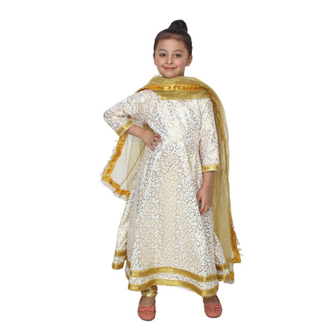 Multi Color Cotton Blend Fancy Costume Dress  - Kathkali-1