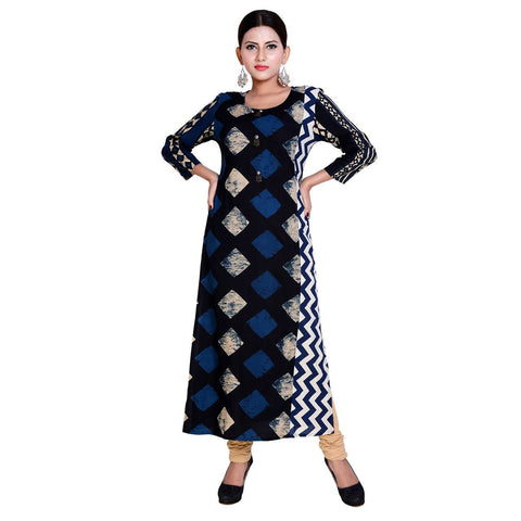 Multi Color Rayon Stitched Kurti  - Kavya-7