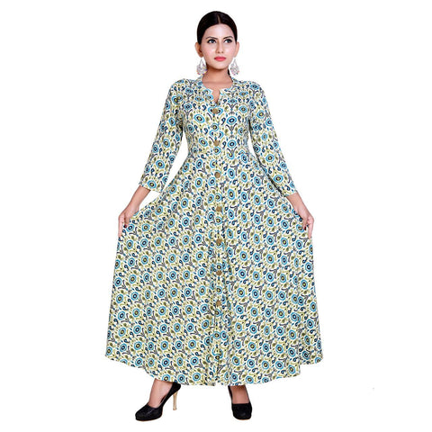 Multi Color Rayon Stitched Kurti  - Kavya-9