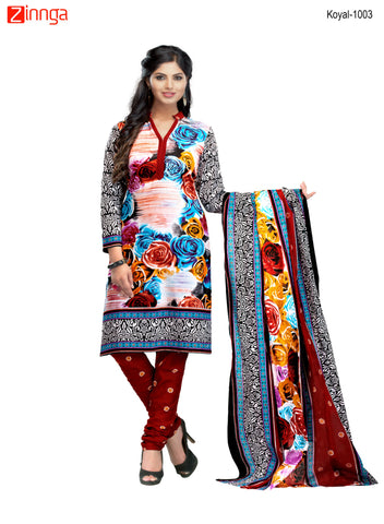 Multi Color Cotton  Stitched Salwar  - Koyal-1003