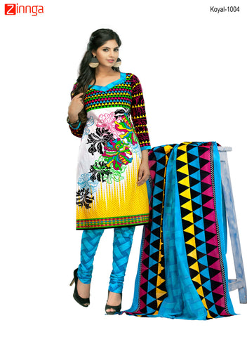 Multi Color Cotton  Stitched Salwar  - Koyal-1004