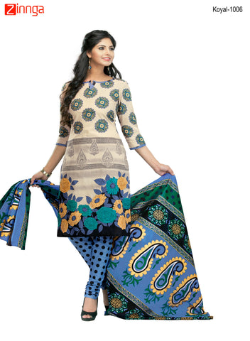 Multi Color Cotton  Stitched Salwar  - Koyal-1006